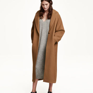 H&M Wool-blend Twill Coat $199