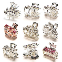 Muti-Color Butterfly Crystal Flower Mini Hair Claw Clamp Hair Clip Hair Pins Hairwear for Girls Valentine's Day Gift SM6