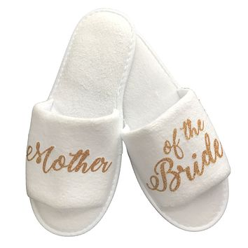 Wedding Party Slippers - Gold