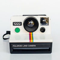 Polaroid Land Camera 1000 - SX 70 Green Button Classic / Original Faux Leather Case