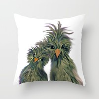 DODO LOVE BIRDS 2 Throw Pillow by RokinRonda | Society6