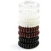 Pretti Pony™ Spiral No Crease Twist Hair Tie - Shrink-Back tech - Brunette - 8 pk
