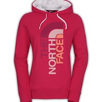Gliks - The North Face Trivert Logo Pullover Hoodie for Women in Rose Red