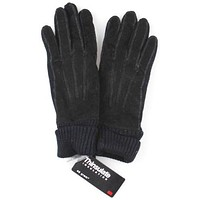 Jaclyn Smith Leather Polyester Suede Knit Gloves 3M Thinsulate Winter Choice NEW
