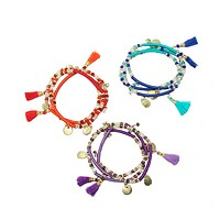 Triple Threaded Charm Bracelet