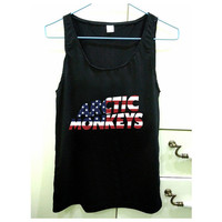 Artic Monkeys American Flag design for Tank Top Mens and Tank Top Girls