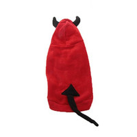 Basket Hill, Red Devil Hoodie Costume for Dogs (M, L)