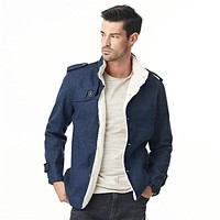 Mens Leisure Trendy Cashmere Woolen Cardigan Jacket Coat