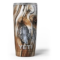 Raw Aged Knobby Wood - Skin Decal Vinyl Wrap Kit compatible with the Yeti Rambler Cooler Tumbler Cups