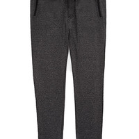 Faux Suede-Trimmed Marled Joggers