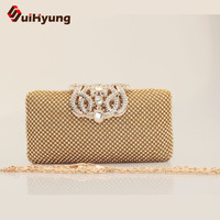 Lowest Price Women's Diamond Clutch Bags Fashion Design Party Evening Bags Wedding Small Clutch Purse Female Chain Shoulder Bags