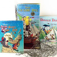 Vintage Golden Book Nautical Collection Instant Library Childrens Collectible or Beach Themed Decor
