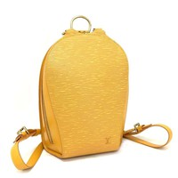 100% Authentic Louis Vuitton Epi Mabillon Yellow Leather Backpack /m179