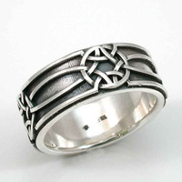Mens Ring Celtic Knot Sterling Silver   by SwankMetalsmithing