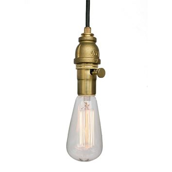 Industrial Rustic Pipe Pendant Light- Brass