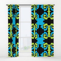 Composition Swirls Window Curtains by edrawings38