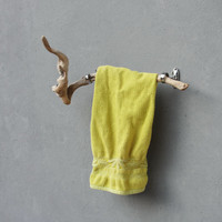 Driftwood Towel Holder, Jewly Rack Rustic Driftwood, Metal - Beach Home Decor