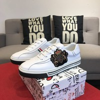 DG Dolce & Gabbana AMAZING COOL logo Men's 2020 New Yellow Black Leather Embroidery Low Top Boots Casual Sneaker Running sport Shoes flat BEST Quality