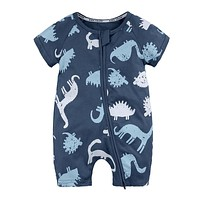 born baby cotton rompers lovely baby boy girls short sleeve baby costume Jumpsuits Bebes Infant Clothes