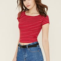 Stripe Boat-Neck Top