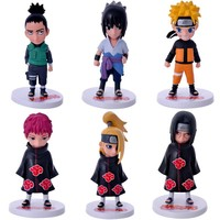 6pcs/set Anime Naruto Sasuke Shikamaru Sasori Deidara Itachi Uzumaki Naruto PVC Figure Action Figures Toys Collectible Model Toy