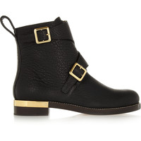 Chloé - Textured-leather ankle boots