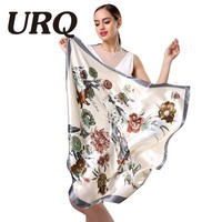 New Design Woman Silk Scarf 90*90cm Square Satin Scarves for Women Head Scarf for Hair Silk hair scarf for sleeping S9A9641