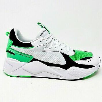 Puma RS X Reinvention White Irish Green Mens Size 11.5 Sneakers 369579 05