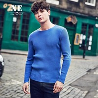 Winter Round-neck England Style Tops Slim Knit Sweater [7951227523]