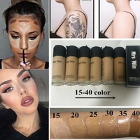 Longwear Liquid Foundation spf15 Base Concealer Makeup Liquid Foundation BB Cream Maquiagem 15ml