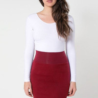 Solid Pencil Skirt in Red