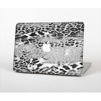 The White and Black Real Leopard Print Skin Set for the Apple MacBook Air 13""