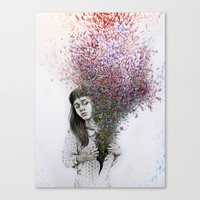 I tried to draw my soul but all I could think of was flowers Canvas Print by KatePowellArt