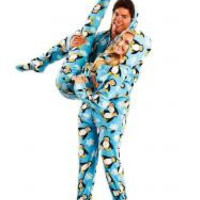 Penguins Adult Footed Onesuit Pajamas