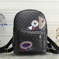 One-nice™ LV Louis Vuitton Women Fashion Daypack School Bag Leather Backpack