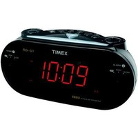 Timex T715BW3 Dual Alarm Clock Radio (Black) (Discontinued by Manufacturer)