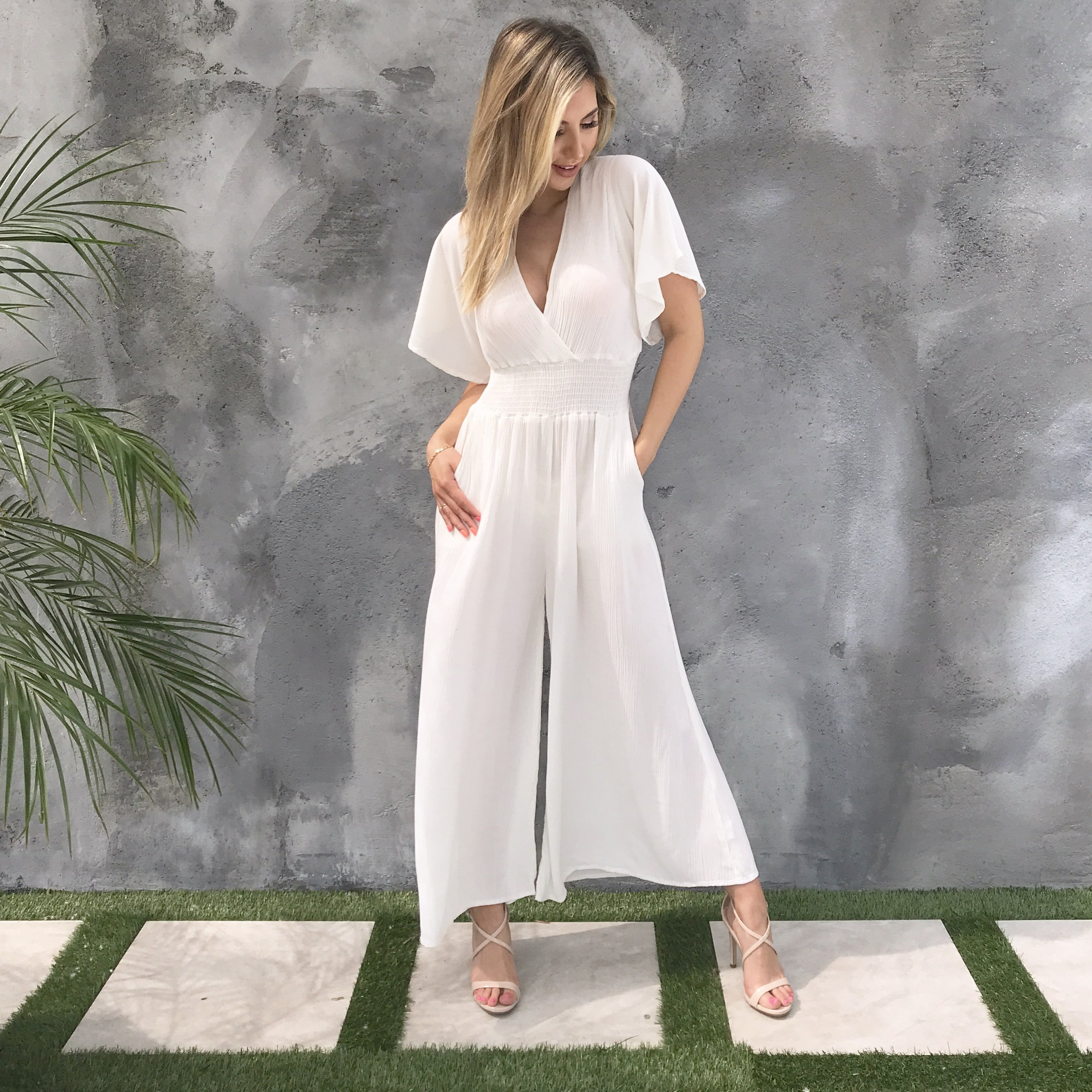Image of Eternal Love Jumpsuit in White