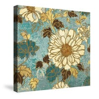 Sophia's Flowers Blue Canvas Wall Art