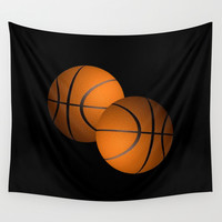 Basketball Design  Wall Tapestry by Leatherwood Design