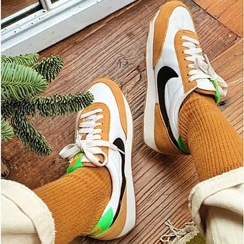 """Nike Air Daybreak SP """"Cool Gray"""" Retro Casual Sports Jogging Shoes White&Yellow"""