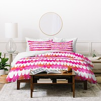 Betsy Olmsted Owl Feather Duvet Cover