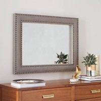 Upholstered Wall Mirror - Doe Linen