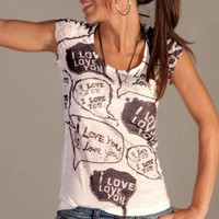 LOVE black white  tshirt love speech baloons by nikacollection