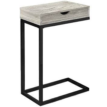 "Accent Table with Storage - 10'.25"" x 15'.75"" x 24'.5"" Grey, Black, Particle Board, Drawer - Accent Table"