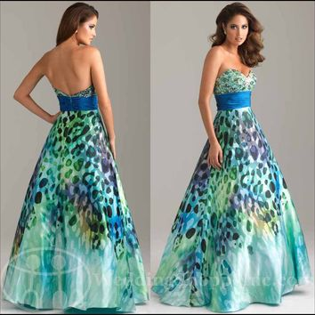 Exotic Prom Dresses: Shop Leopard Printed Prom Dresses 2012 at Wedding Shoppe