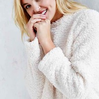 Silence + Noise Cozy Sherpa Top