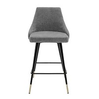 Gray Upholstered Counter Stool | Eichholtz Cedro