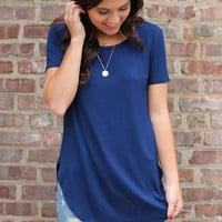 Get In My Closet Tunic - Navy