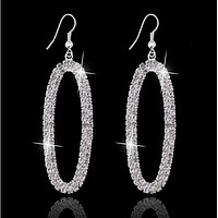 Fashion new ol diamonds earrings claw chain earrings anti - allergic earrings aristocratic silver jewelry