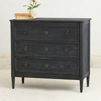 Washed Wood Three-Drawer Dresser by Anthropologie